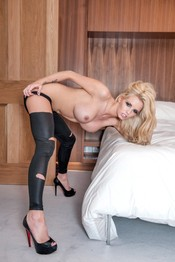 Gemma Hiles In Ripped Pantyhose 05